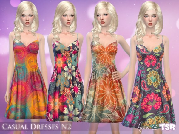 The Sims Resource: Casual Dresses by Aveira