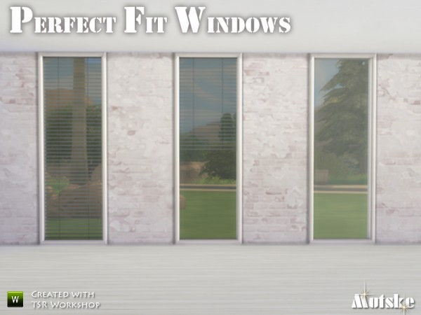 The Sims Resource Perfect Fit Windows By Mutske Sims 4