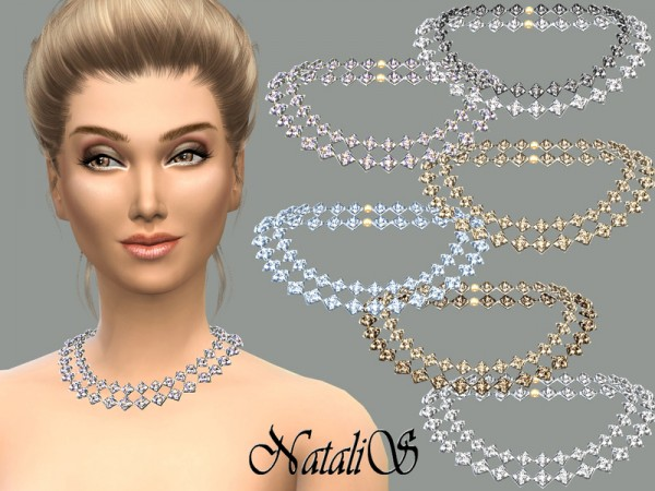 The Sims Resource: Gentle crystals necklace by NataliS