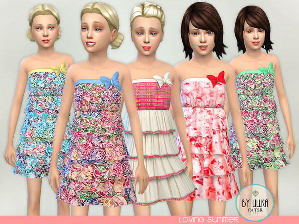 The Sims Resource: Loving Summer dress by lillka