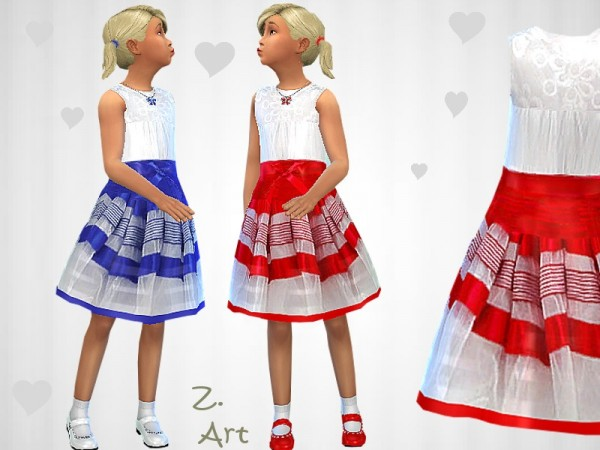 The Sims Resource: Satin Dream dress by Zuckerschnute20