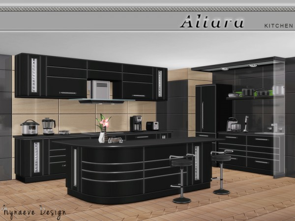 The sims resource altara kitchen by nynaevedesign sims for Sims 4 kitchen designs