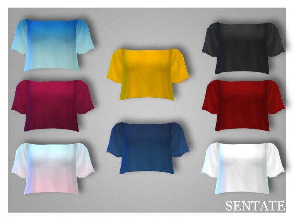 The Sims Resource: Daphne Crop Top by Sentate