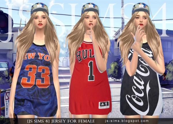 JS Sims 4: Jersey For Female