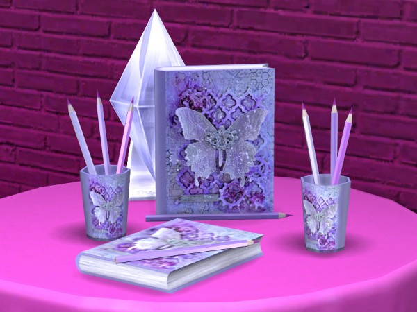 The Sims Resource: Romantic Writer set by Soloriya