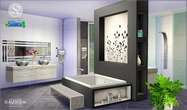 Simcredible designs gaudium bathroom sims 4 downloads for Bathroom ideas sims 4