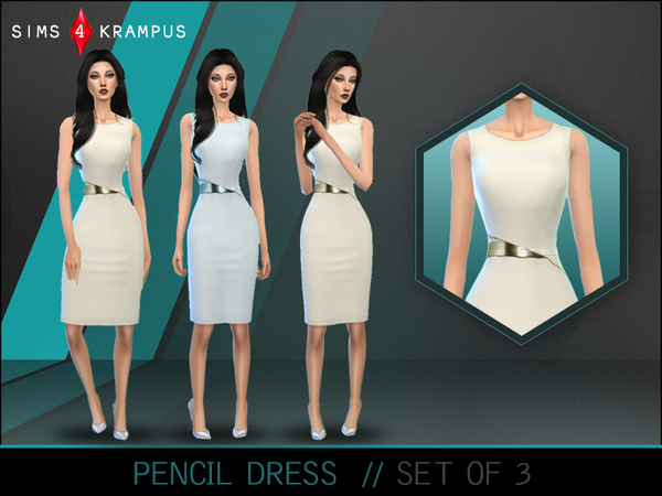 The Sims Resource: Colored Pencil Dresses by SIms4Krampus
