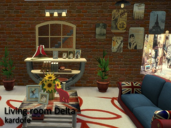 The Sims Resource: Living room Delta by Kardofe