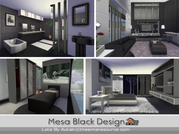 The Sims Resource: Mesa Black Design by Autaki