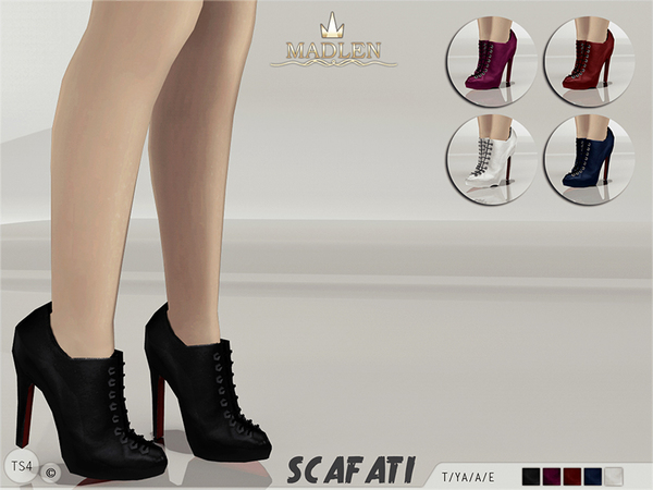 The Sims Resource: Madlen Scafati Boots by MJ95