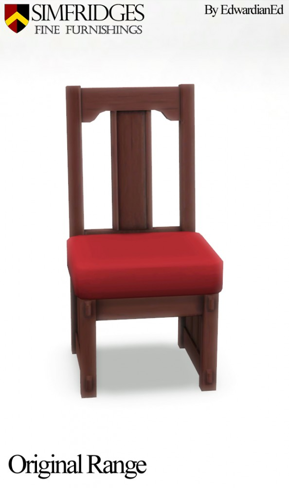 Mod The Sims: Sit Up Straight Dining Chair  by edwardianed