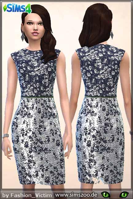 Blackys Sims 4 Zoo: Silver dress by Fashion Victim