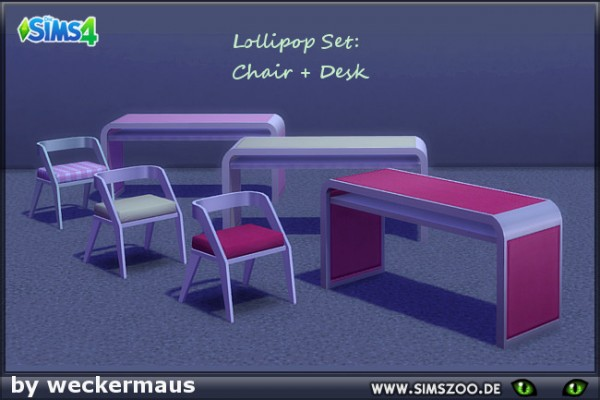 Blackys Sims 4 Zoo: Lollipop  chair and desk by weckermaus