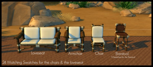 Mod The Sims: Tiki Outdoor Set & Add Ons by Elias943