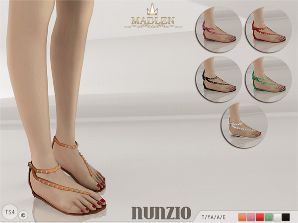 The Sims Resource: Madlen Nunzio Sandals by MJ95