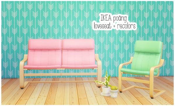 LinaCherie: IKEA loveseat + armchair recolors