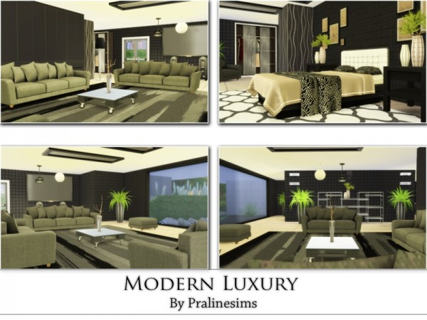 The Sims Resource: Modern Luxury house by Praline Sims