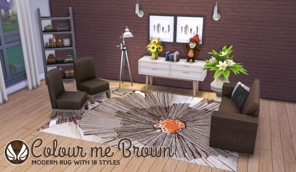 Simsational designs: Colour Me Brown Modern Rugs