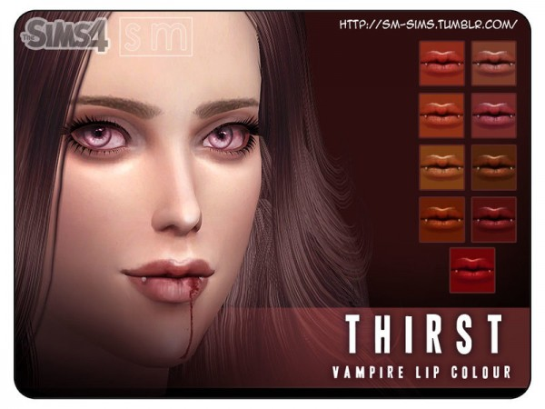 The Sims Resource: Thirst    Vampire Lip Colour by Screaming Mustard