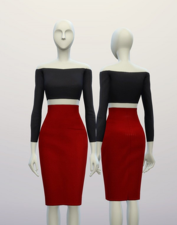 Rusty Nail Basic High Waist Dress Sims 4 Downloads