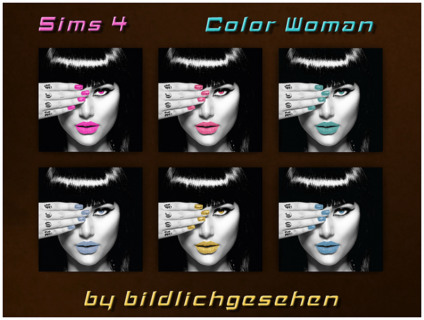 Akisima Sims Blog: Color Woman