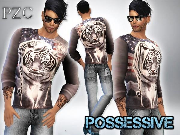 The Sims Resource: Possessive Shirt Set by Pimkzombiecupcake