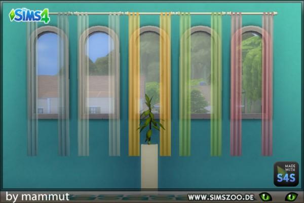 Blackys Sims 4 Zoo: Curtain MinLong2 transparent by mammut