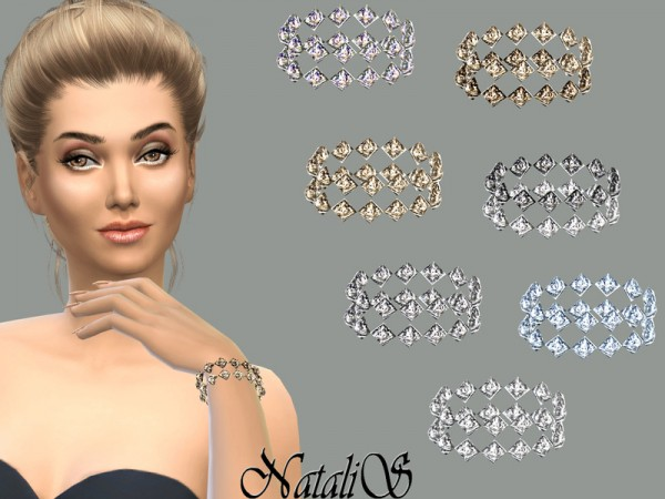 The Sims Resource: Gentle crystals bracelet by NataliS