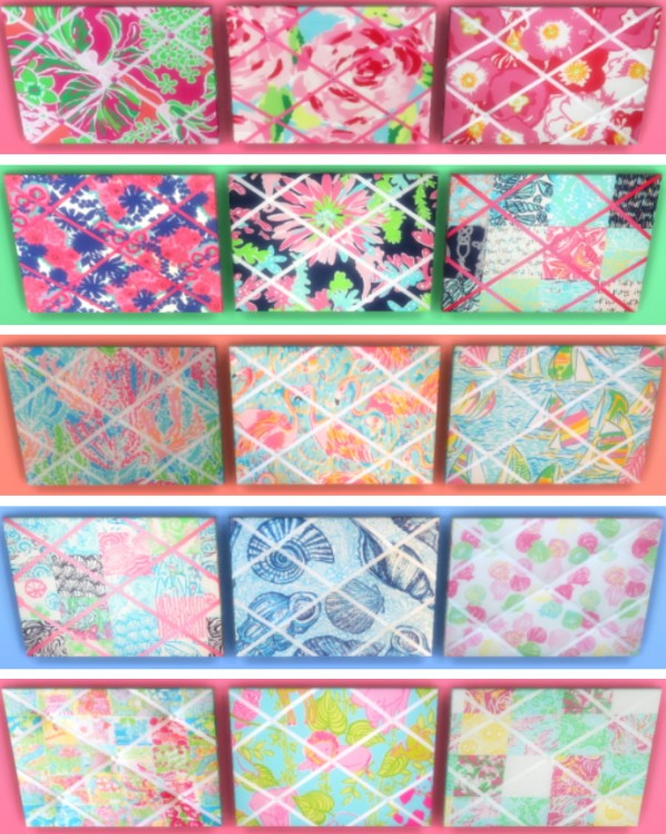 Sunshine Roses Custom Content Lilly Pulitzer Memo Boards Sims 40 Inspiration Lilly Pulitzer Memo Board