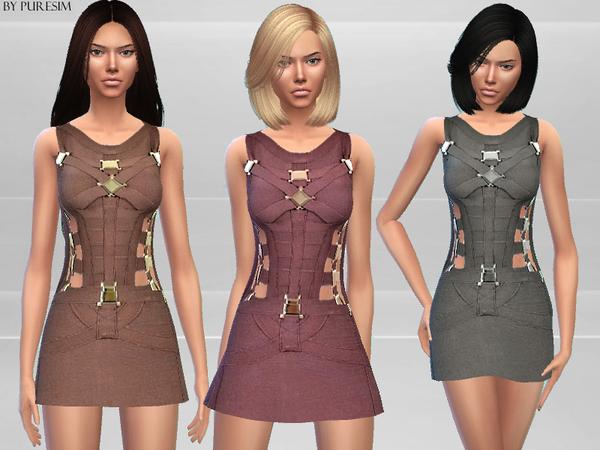 The Sims Resource: Chic Bandage Dress bu Puresim