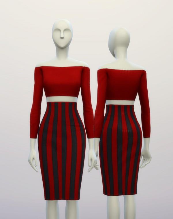 Rusty Nail: Basic High waist dress H line pencil dress