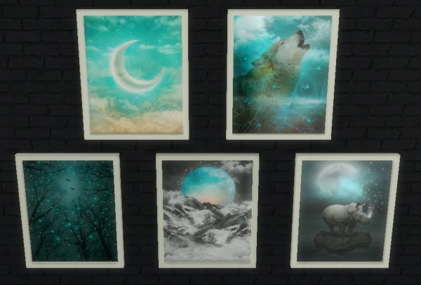 Sunshine & Roses Custom Content: Mystical Wall Art • Sims ...