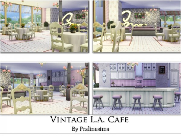 The Sims Resource: Vintage L.A. Cafe by Praline Sims