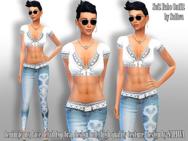 The Sims Resource: Soft Babe Outfit by Saliwa