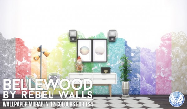 Simsational designs: Bellewood   Mural