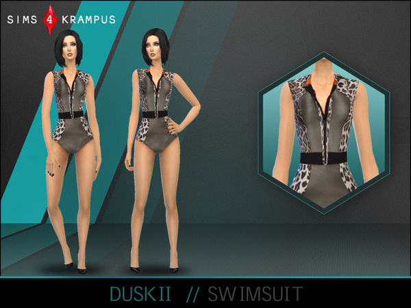 The Sims Resource: Duskii Swimsuit by SIms4Krampus