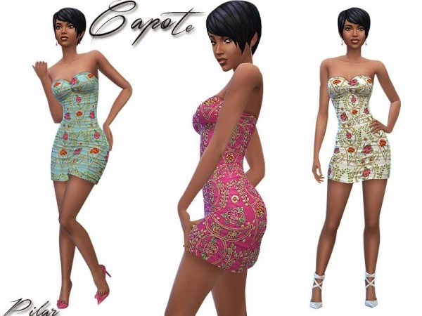 SimControl: Capote short dress by Pilar
