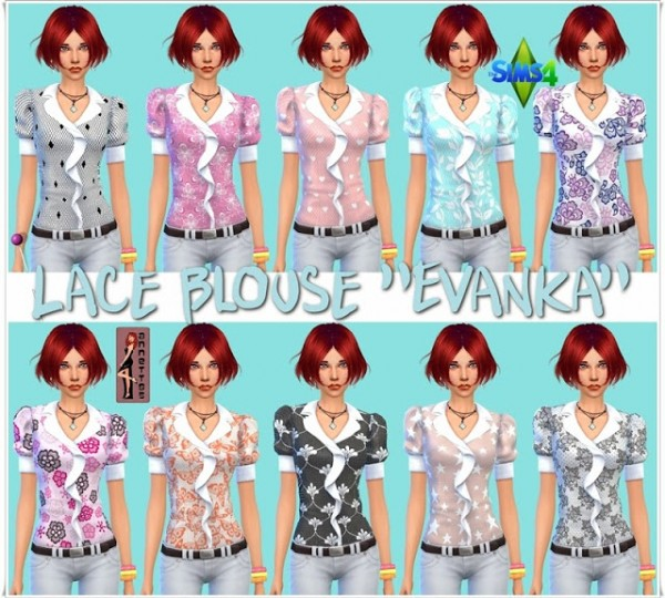 Annett`s Sims 4 Welt: Lace Blouse Evanka