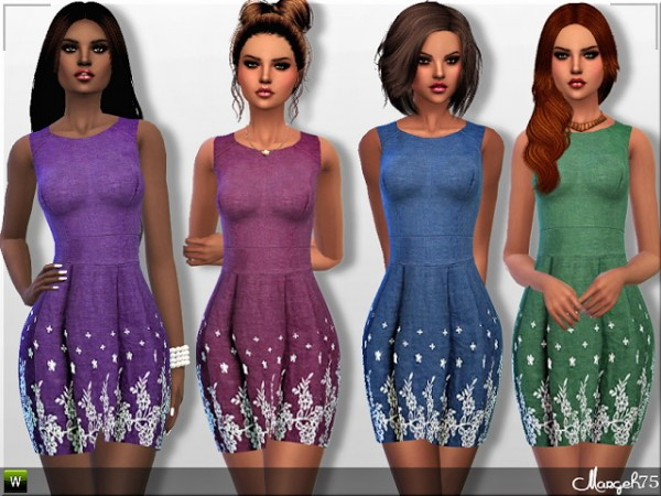 Sims 3 Addictions: Denim Floral Dress by Margies Sims