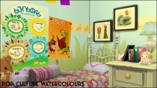 Martine Simblr: Pop culture water colours