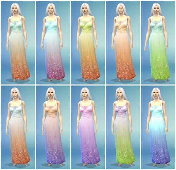 The simsperience: 10 Long Luxury Dress Recolors