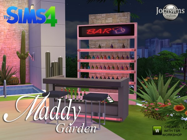The Sims Resource: Maddy modern Garden set by jomsims