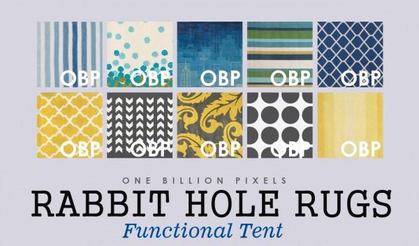 One Billion Pixels: Rabbit Hole Rugs   Functional Tent