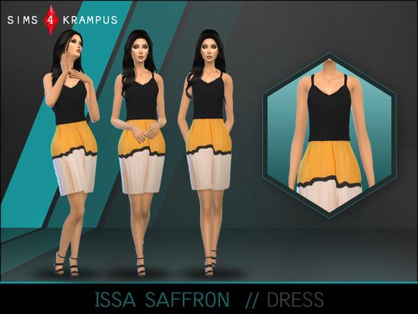 The Sims Resource: Issa Saffron Dress by SIms4 Krampus