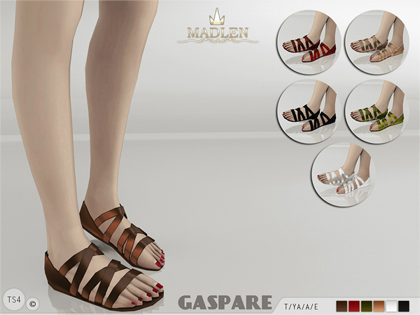 The Sims Resource: Madlen Gaspare Sandals