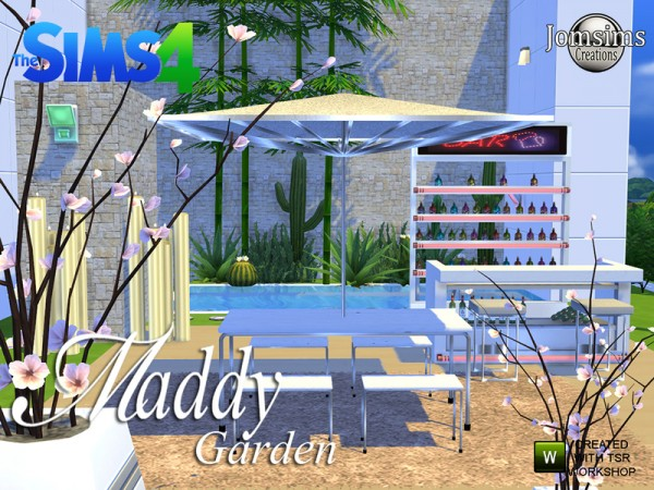 The Sims Resource Maddy Modern Garden Set By Jomsims