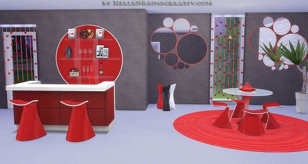 Sims Creativ: Dining room Lora by HelleN