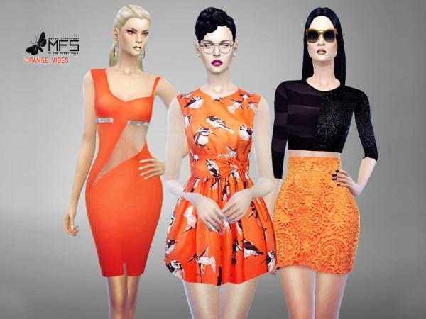 MissFortune Sims: Orange Vibes collection