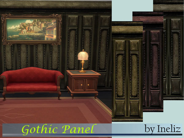 The Sims Resource: Gothic Panel by Ineliz