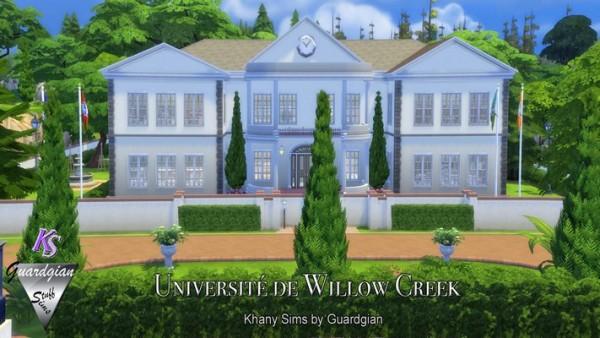 Khany Sims: Université de Willow Creek by Guardgian